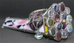 Sale 9093A - Lot 5102 - Deborah Wood - Coffee Table Jewellery (Kaleidoscope adorned with gemstones)