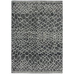 Sale 9090C - Lot 22 - Indian Pebbles Design, 160x230, Handspun Wool & Bamboo Silk