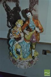 Sale 8304 - Lot 60 - Italian Ceramic Figures