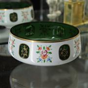 Sale 8379 - Lot 50 - Bohemian Green Glass Dish