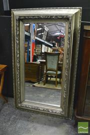 Sale 8398 - Lot 1008 - Gilded Deep Framed Rectangular Bevelled Edge Mirror
