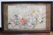 Sale 8490 - Lot 254 - Original Chinese watercolour by an Unknown Artist (frame size: 81.5 x 134cm)