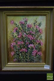 Sale 8497 - Lot 2017 - Winn Albury Native Rose in frame, signed lower right