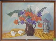 Sale 8604 - Lot 2047 - Ade Beer Plomp - Still Life, 1984 oil on board, 60.5 x 79.5cm, signed lower right -