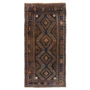 Sale 8870C - Lot 32 - Afghan Antique Beluch Carpet in Handspun Wool 310x150cm