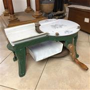 Sale 8995H - Lot 88 - An antique meat slicer (restoration to handle) height 25cm x width 50cm