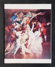 Sale 8961 - Lot 2090 - Norman Lindsay, Revel, Print 42x39cm