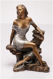 Sale 9049 - Lot 4 - Composite figure of a seated lady (H43cm)