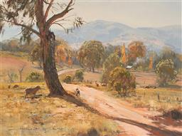 Sale 9125A - Lot 5047 - Doug Sealey - Road into the Hills Bathurst 29.5 x 39.5 cm (frame: 44 x 54 x 3 cm)