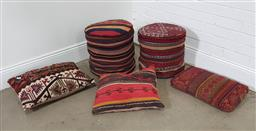 Sale 9191 - Lot 1011 - Collection of kilim cushions