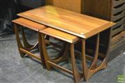 Sale 8364 - Lot 1001 - G-Plan Teak Nest of Three Tables