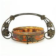 Sale 8387 - Lot 45 - French Glass & Metal Art Nouveau Centrepiece