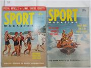 Sale 8431B - Lot 52 - Two front covers and two articles in two magazines on Surf Life Saving. Manly Beach (Feb 1962) and Surfboat (Feb 1963)