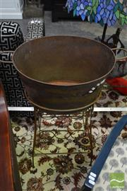 Sale 8489 - Lot 1029 - Metal Wine Bucket on Wine Rack Stand