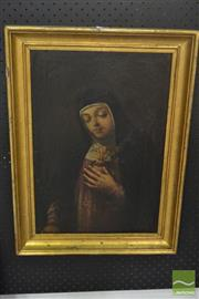 Sale 8525 - Lot 2017 - Artist Unknown (C19th) - Sacred Heart 48.5 x 32.5cm
