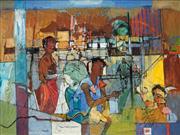 Sale 8565 - Lot 501 - Reinis Zusters (1919 - 1999) - Cityscape 44.5 x 59.5cm