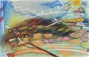 Sale 8732 - Lot 581 - Geoffrey Proud (1946 - ) - Dog Race, 1986 37 x 57cm (frame 92 x 111cm)
