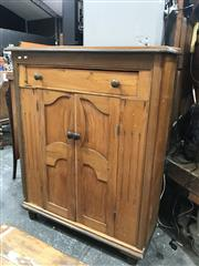 Sale 8809 - Lot 1070 - Raised Timber Cabinet with Single Drawer & Two Doors