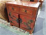 Sale 8826 - Lot 1015 - Small Chinese Cabinet with Two Drawers & Doors