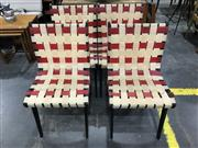 Sale 9039 - Lot 1080 - Set of 4 Snelling Webbed Dining Chairs (h:80 x w:42cm)