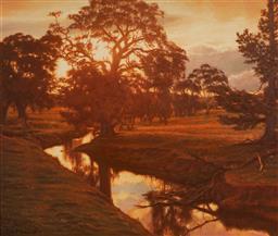 Sale 9125A - Lot 5017 - David Perks - Sundown, Springton, SA, 2003 67 x 79 cm (frame: 86 x 98 x 3 cm)