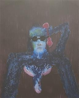 Sale 9123J - Lot 26 - Sidney Nolan Figure mixed media 29x24cm signed lower right, signed & dated 69 verso
