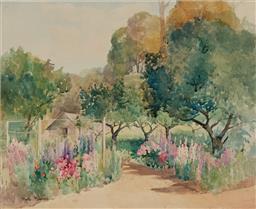 Sale 9161A - Lot 5066 - ANNE HEDLEY PARSONS (1870 - 1960) - Country Garden 42 x 52.5 cm (frame: 58 x 68 x 3 cm)
