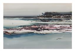 Sale 9245J - Lot 82 - Geoffrey Dyer - Water Views signed lower right