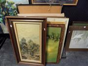 Sale 8429A - Lot 2076 - Large Collection of Original Paintings, oil and watercolour by Various Artists, framed, various sizes (11)