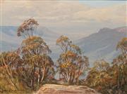 Sale 8657A - Lot 5071 - John Emmett - Blue Mountains Summer Haze 29 x 39.5cm