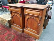 Sale 8676 - Lot 1018 - Pair of Mahogany Bedsides
