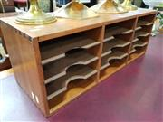 Sale 8700 - Lot 1086 - Timber Desk Tidy