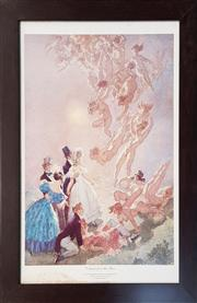 Sale 8961 - Lot 2091 - Norman Lindsay, Visitants, Print 52.5x37cm