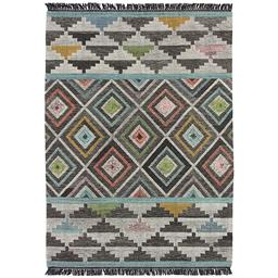Sale 9090C - Lot 25 - India Aztec Design Flatweave, 160x230cm, Handspun Wool