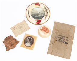 Sale 9190E - Lot 98 - A quantity of military ephemera including naval photograph