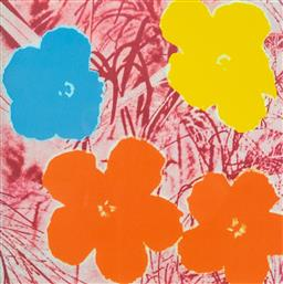 Sale 9174JM - Lot 5030 - ANDY WARHOL (1928 - 1987) Flowers offset lithograph on Arches paper, 33/100 framed size 65 x 58cm numbered in pencil lower left, dig...