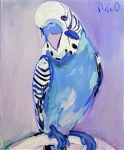 Sale 8286 - Lot 539 - Mia Oatley (1977 - ) - Blue Budgie 130 x 100cm