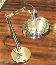 Sale 8319 - Lot 409 - 1970s Chrome industrial type angle poise desk lamp