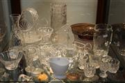Sale 8327 - Lot 94 - Cut Crystal Vase & Other Glass Ware incl Art Glass Dish
