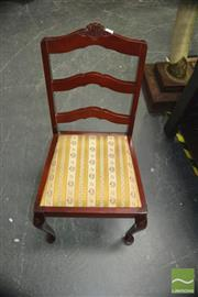Sale 8431 - Lot 1034 - Set of 6 Ladder Back Dining Chairs