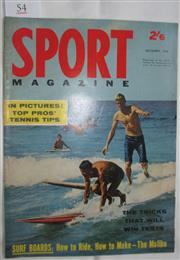 Sale 8431B - Lot 54 - Front cover and two page story. Girls Among The Board Riders in Sport Magazine. December 1962