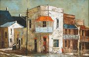 Sale 8449A - Lot 503 - Ric Elliot (1933 - 1995) - Paddington Terraces 18.5 x 29cm