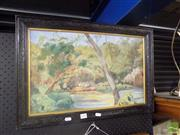 Sale 8483 - Lot 2056 - R. Mann, In the Glade, Oil, Signed 33x53cm