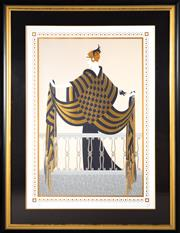 Sale 8593A - Lot 1 - Erté - The Balcony 90 x 64cm