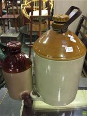 Sale 8637 - Lot 1072A - Two Demijohns