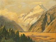Sale 8675 - Lot 583 - Albert Fullwood (1863 - 1930) - Mountain Scene 22 x 29.5cm