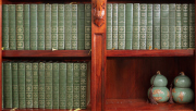 Sale 8795A - Lot 37 - A collection of 43 volumes by Charles Dickens in green leather binding