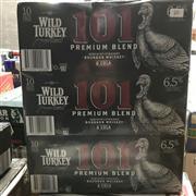 Sale 8801W - Lot 68 - 30x Wild Turkey 101 & Cola Cans 6.5%, 375ml