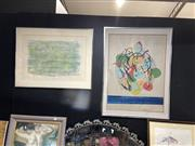 Sale 8906 - Lot 2084 - Pair of 70s Abstract Prints