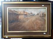 Sale 9061 - Lot 2001 - Tony Costa, Deserted Town, Gulgong, 1973, oil on canvas on board, frame: 53 x 73 cm, signed lower left